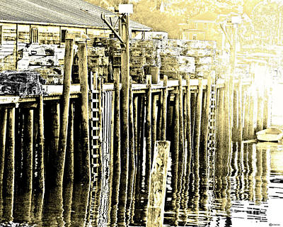 Digital Art - Bass Harbor Mt Desert Me by Lizi Beard-Ward