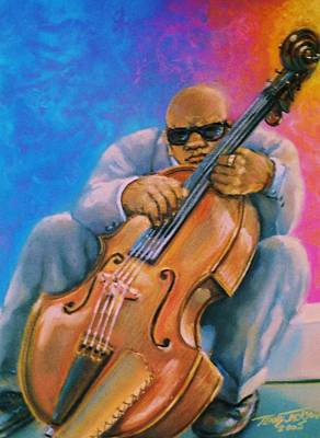 Pastel - Bass Player by Terry Jackson