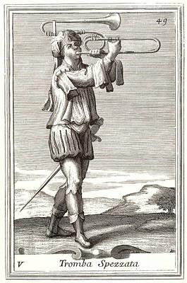 Bass Trombone, 1723 Art Print by Granger