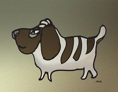 Basset Hound Art Print by Daniel Meola
