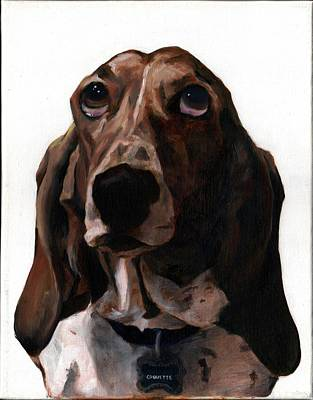 Painting - Basset Hound Named Coquette by Thomas Weeks