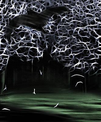 Creepy Mixed Media - Bat Cave 2 by Steve Ohlsen