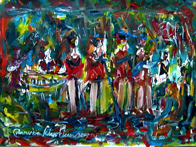 Batak Music And Dance By The Band Samosir Cottage Dance Art Print