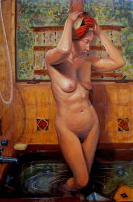 Bath 1 Art Print by Donelli  DiMaria