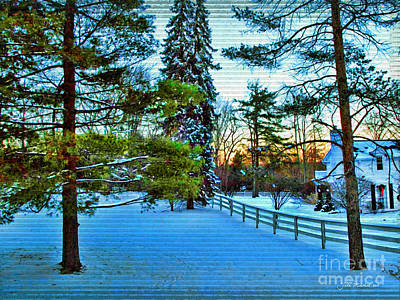 Photograph - Bath Ohio In Winter by Joan  Minchak