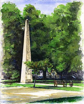 Painting - Bath Square by John D Benson