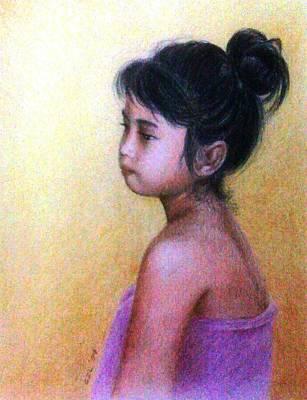 Gizelle Perez Drawing - Bath Time by Gizelle Perez