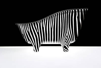 Photograph - Bath With Zebra Stripes by Radoslav Nedelchev