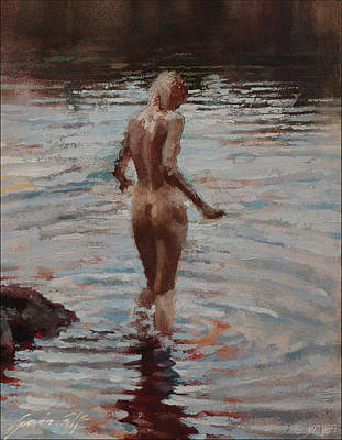Painting - Bather Detail by Gavin Calf