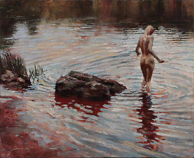 Painting - Bather by Gavin Calf