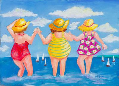 Pastel - Bathing Beauties by Pat Olson