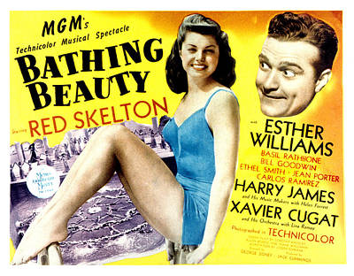 Posth Photograph - Bathing Beauty, Esther Williams, Red by Everett