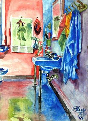 Bathroom Art Print by Mike N