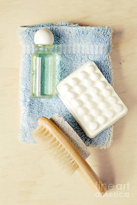Exfoliate Photograph - Bathroom Still Life by HD Connelly