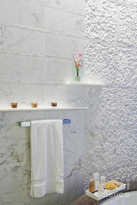 Marble Slabs Photograph - Bathroom Wall by Jeremy Woodhouse