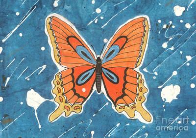 Painting - Batik Butterfly by Billinda Brandli DeVillez