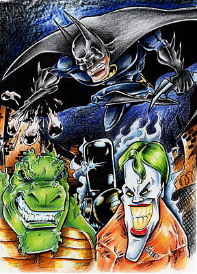 Justice League Drawing - Batman 2 by Big Mike Roate