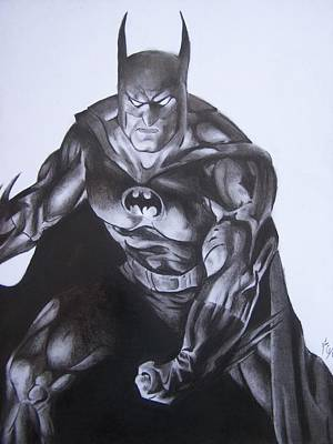 Drawing - Batman by Luis Carlos A