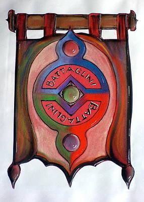 Battaglini Family Crest Art Print