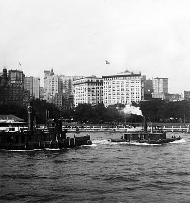 Battery Park And Lower Manhattan New York City - C 1904 Art Print by International  Images