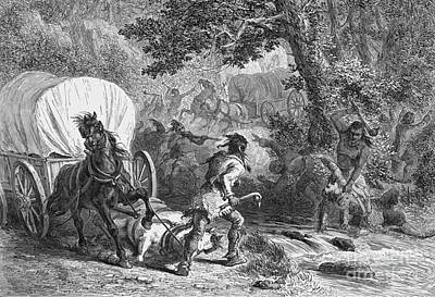 Battle Of Bloody Brook 1675 Print by Photo Researchers