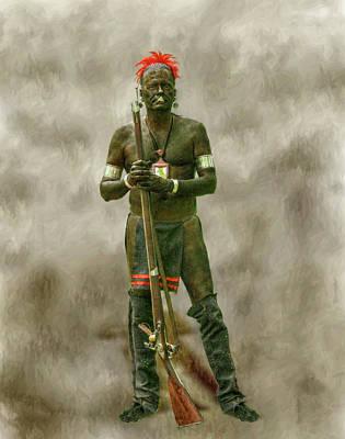 Battle Of Bushy Run Reenactor Portrait Art Print by Randy Steele