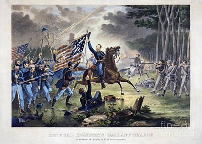 Battle Of Chantlly, 1862 Print by Granger