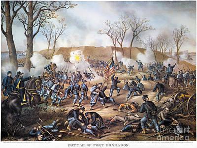 Battle Of Fort Donelson Print by Granger