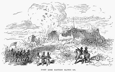 Battle Of Fort Erie, 1814 Art Print by Granger