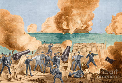 Photograph - Battle Of Fort Sumter, 1861 by Photo Researchers