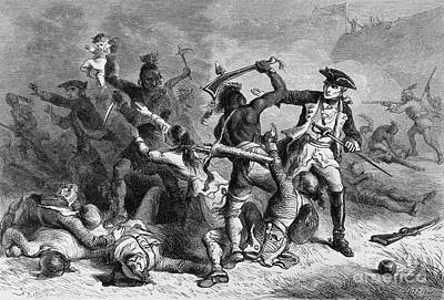 1750s Photograph - Battle Of Fort William Henry, 1757 by Photo Researchers