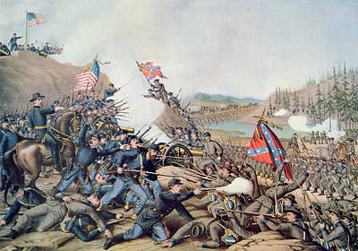 Franklin Tennessee Painting - Battle Of Franklin November 30th 1864 by American School
