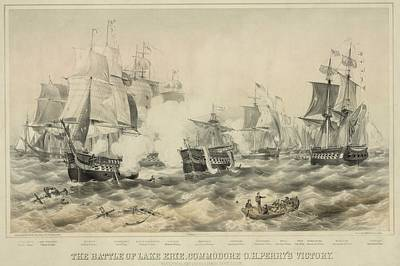 Battle Of Lake Erie. American Art Print