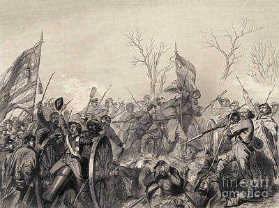Photograph - Battle Of Murfreesboro, 1863 by Photo Researchers