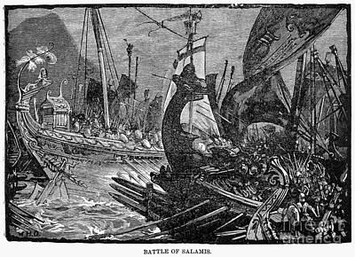 Battle Of Salamis, 480 B.c Art Print