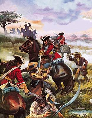 Musket Painting - Battle Of Sedgemoor by Andrew Howart