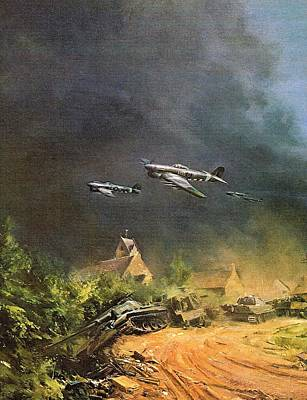 Liberation Painting - Battle Of The Liberation Of France by Roberto Simeroni