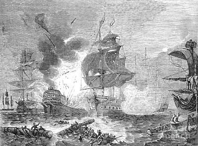 Lord Admiral Nelson Photograph - Battle Of The Nile, 1798 by Granger