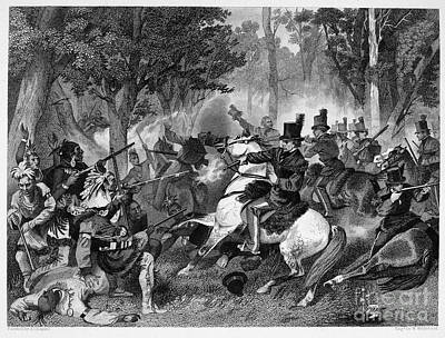Chief Tecumseh Photograph - Battle Of The Thames by Granger