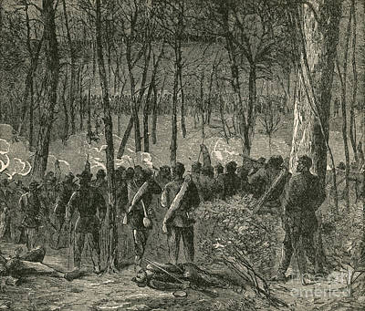 Battle Of The Wilderness, 1864 Art Print by Photo Researchers