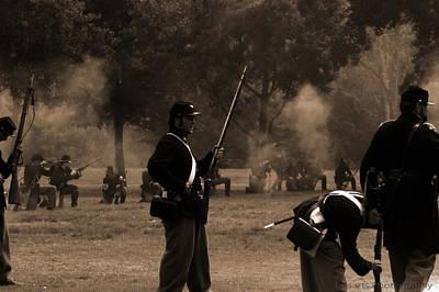 Historical Re-enactments Painting - Battlefield by Pristine Cartera Turkus