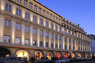 Bavaria Munich At Night  Art Print