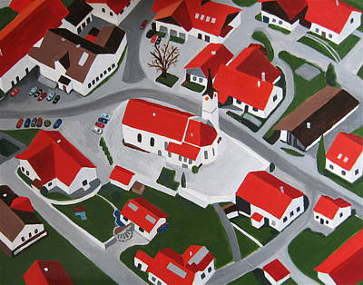 Bavarian Village Art Print by Toni Silber-Delerive