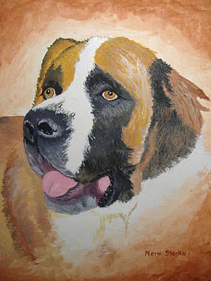 Art Print featuring the painting Baxter by Norm Starks