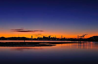 Bay Area Sunset Art Print by Richard Leon