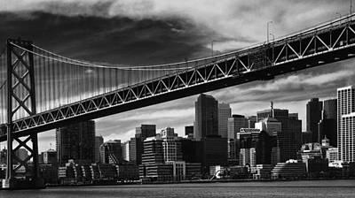 Bay Bridge And Dowtown San Francisco Art Print by Laszlo Rekasi