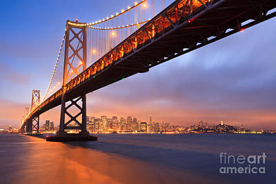 Photograph - Bay Bridge To San Francisco by Sean Duan