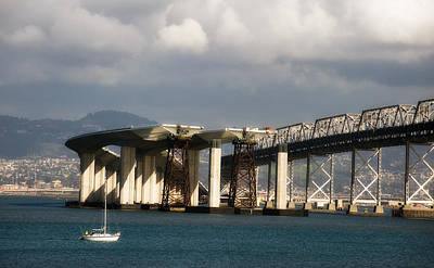 Photograph - Bay Bridge Under Construction by Gary Rose