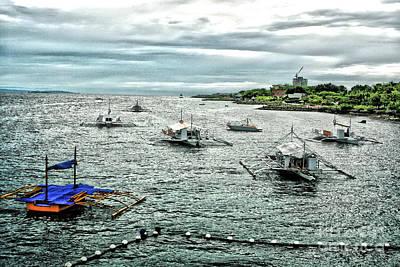 Bay Of Mactan Island Philippines Art Print by Anita Antonia Nowack