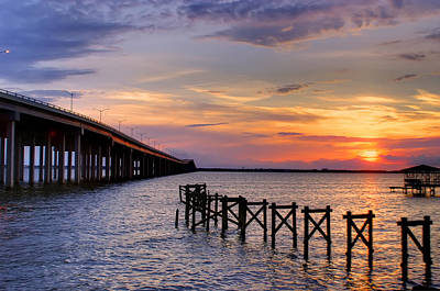 Bay St. Louis Sunset Art Print by Brian Wright
